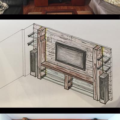 Proyecto renovación living Casa FC - Chamisero.