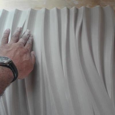 Palmeta de Yeso 3D - Modelo Wave