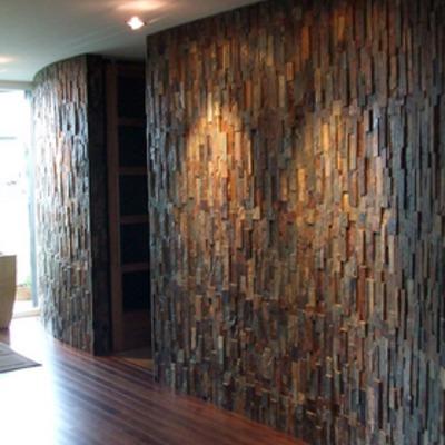 muro con aplicacion piedra