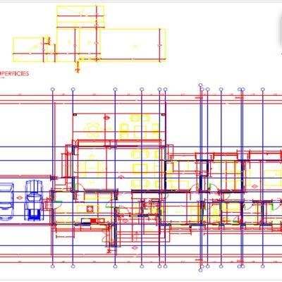 Planos de arquitectura Casa Mediterránea