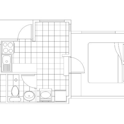 Plano de la construcción de la Depto. Cabaña