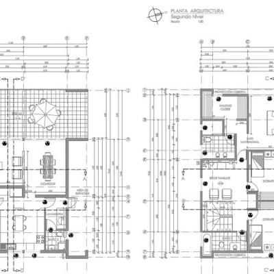 Plano de arquitectura para casa de dos pisos