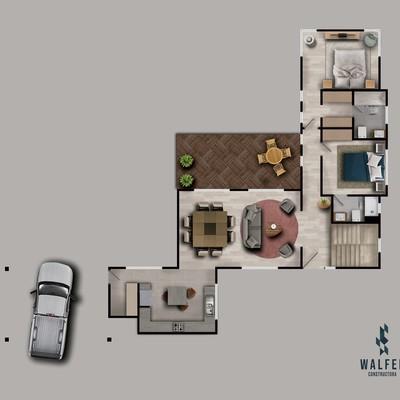 Ilustracion planta casa R A primer nivel