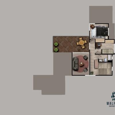 Ilustracion planta casa R A segundo nivel