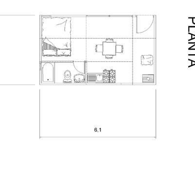 Planta Arquitectura 18m2
