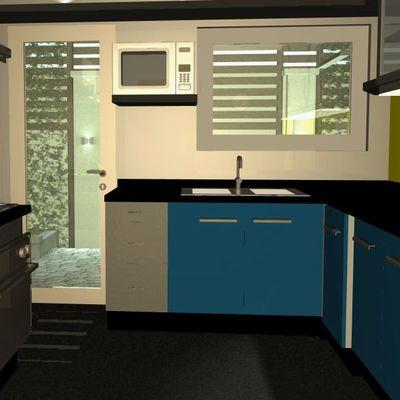 Proyecto 3D cocina (casa Normandía) Providencia