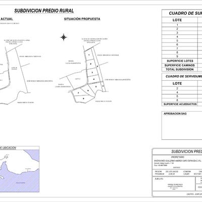 Plano De proyecto de Subdivision , Sector Quel-Quel