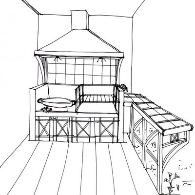 Quincho en terraza