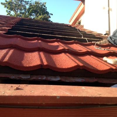 Reparacion cubierta de techumbre