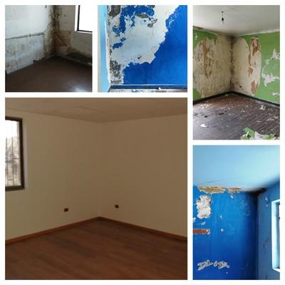 Reparación de muros y pintura