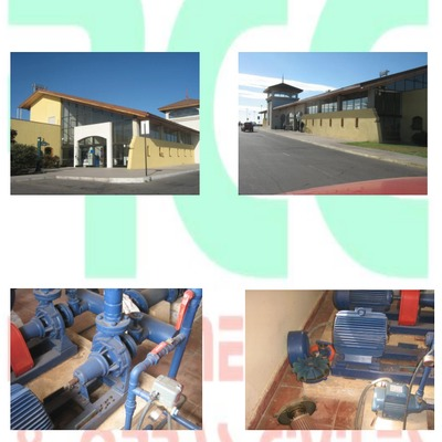 Mantención sala de bomba y pintura de fachada Aeropuerto La Serena.