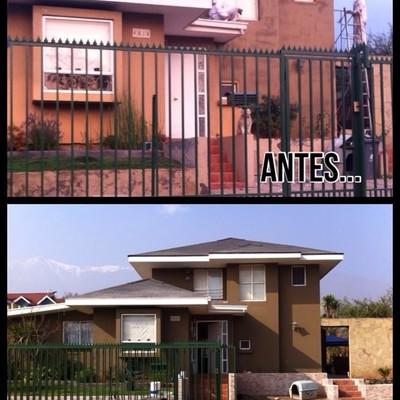 Antes y después de pintura exterior