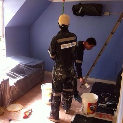 Pintura interior de un domicilio