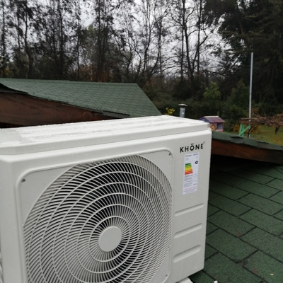 Instalación sistema climatización, cliente Requinoa