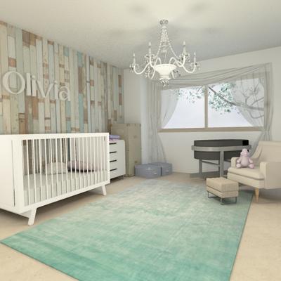 Diseño para habitacion de bebe