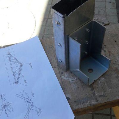 CONSTRUCCION DE CERCHAS EN METALCON Y CUBIERTA 2/5