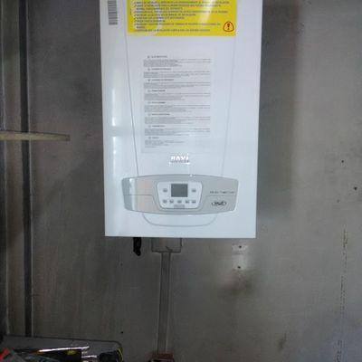 Instalación de caldera Duo tech 40 g a condensación marca anwo