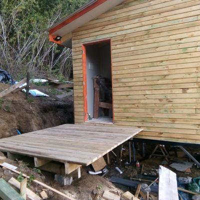 Casa construcción en pino