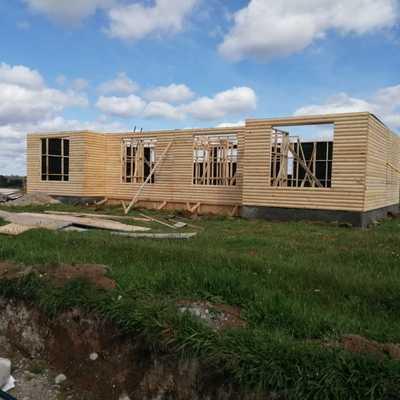 Levante y remodelacion de casa prefabricada