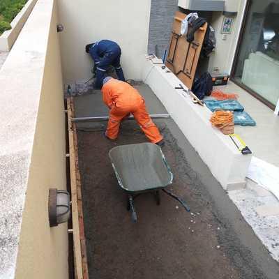 Impermeabilización y revestimiento en terraza