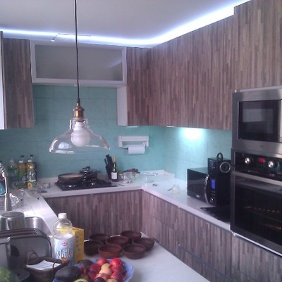 cocina moderna cubierta cuarzo