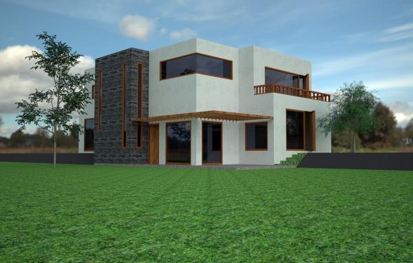 Foto dise o casa estilo mediterraneo de construcciones for Diseno jardin mediterraneo