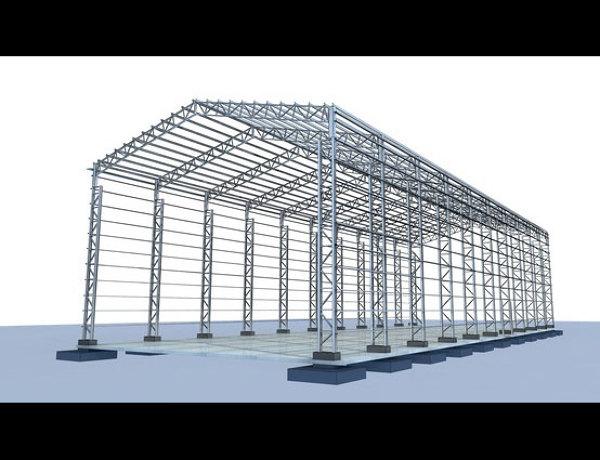Foto dise o de galpon en software 3d de proyectemos ltda for Software diseno piscinas