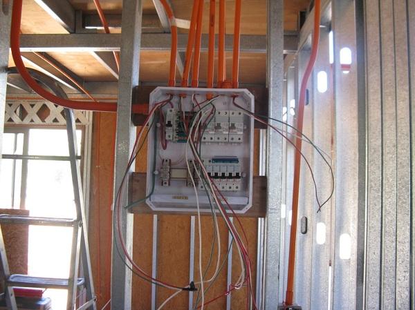 Foto instalaci n el ctrica en construcci n nueva de acp for Instalacion electrica jardin