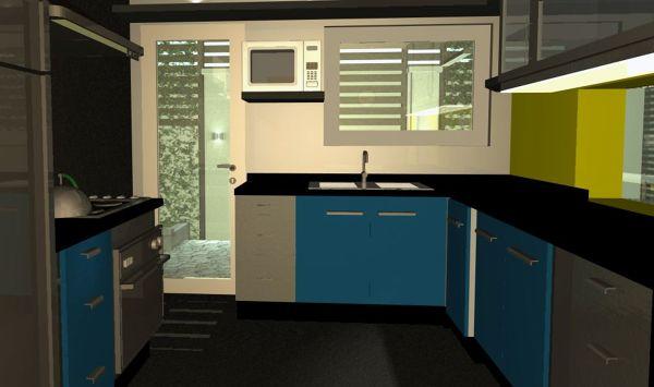 Foto proyecto 3d cocina casa normand a providencia de for Cocina profesional en casa