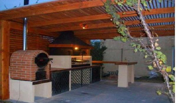 Foto quincho con pergola de construciones - Modelos de pergolas para terrazas ...