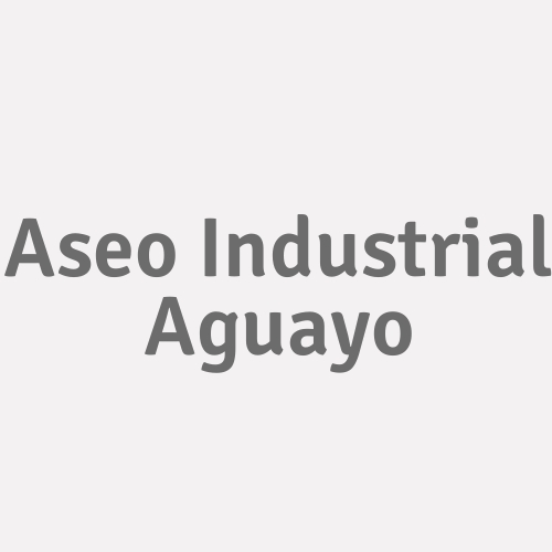 Aseo Industrial Aguayo