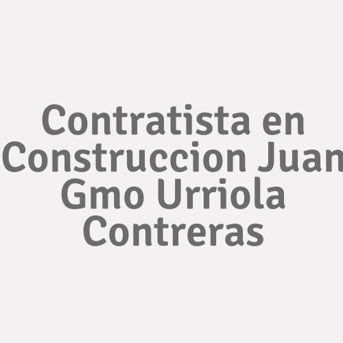 Contratista en Construccion Juan Guillermo Urriola Contreras