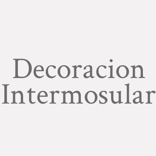 Decoracion Intermosular