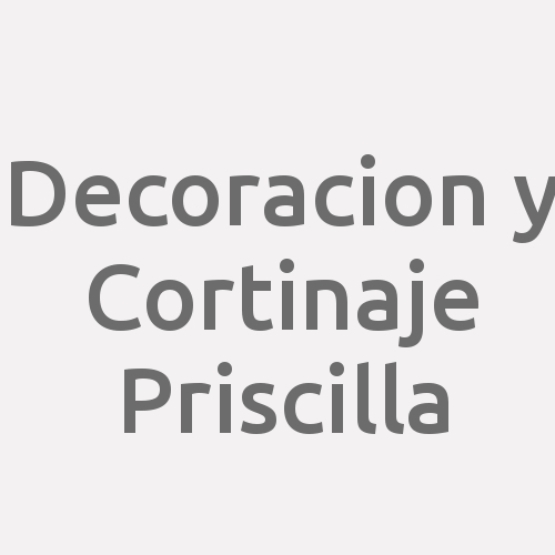 Decoracion y Cortinaje Priscilla