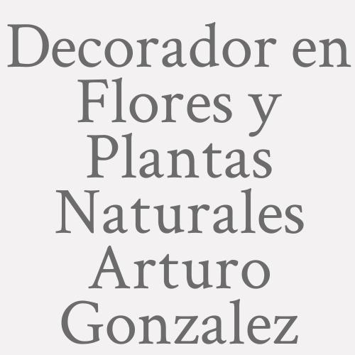 Decorador en Flores y Plantas Naturales Arturo Gonzalez