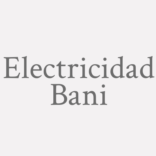 Electricidad Bani