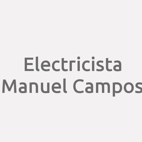 Electricista Manuel Campos