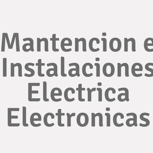 Mantencion E Instalaciones Electrica Electronicas