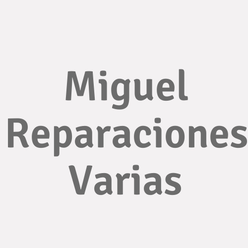 Miguel Reparaciones Varias
