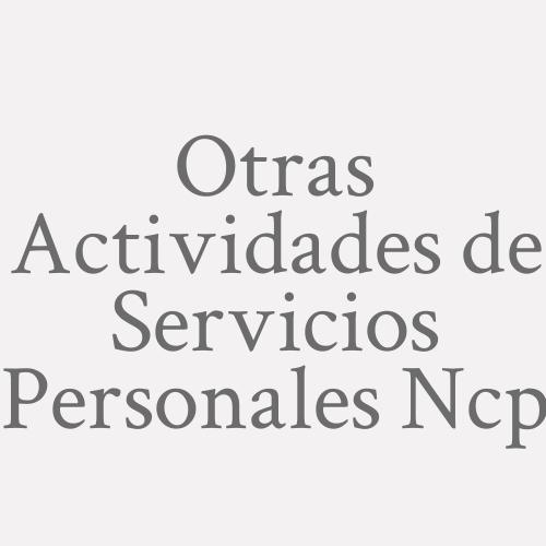 Otras Actividades De Servicios Personales N.c.p.