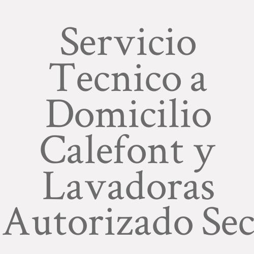 Servicio Tecnico A Domicilio Calefont Y Lavadoras Autorizado Sec