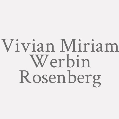 Vivian Miriam Werbin Rosenberg