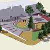 Proyecto de plaza y área de estacionamiento