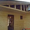 Pintar exterior de casa en madera de alero, 80 metros cuadrados y 48 metros lineales