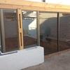 Instalacion de mampara de vidrio y aluminio