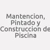 Mantencion, Pintado Y Construccion De Piscina