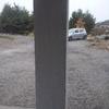 Tachar un estacionamiento de 7 x 7  Con techo rígido y con 4 columnas.