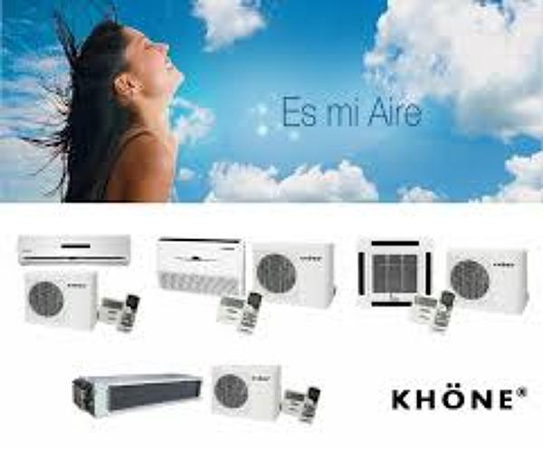 Equipo aire acondicionado tipo muro no inverter marca  khone 9000 btu  189.000 pesos