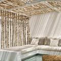 pérgola con bambú