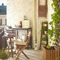 Balcón con mueble plegados